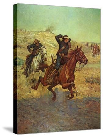 Going for Reinforcements-Charles Shreyvogel-Stretched Canvas Print