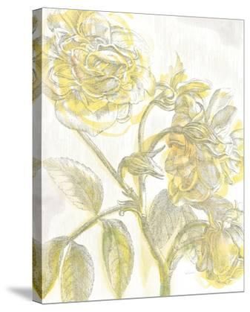 Belle Fleur Yellow I Crop-Sue Schlabach-Stretched Canvas Print