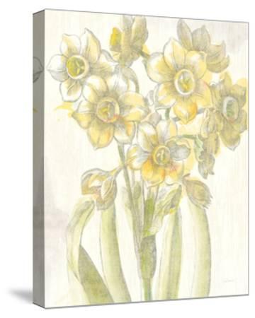 Belle Fleur Yellow IV Crop-Sue Schlabach-Stretched Canvas Print