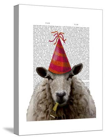 Party Sheep-Fab Funky-Stretched Canvas Print