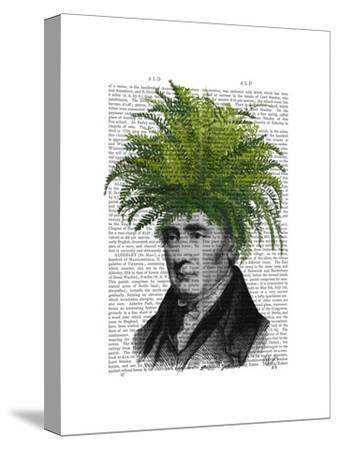 Fern Head Plant Head-Fab Funky-Stretched Canvas Print