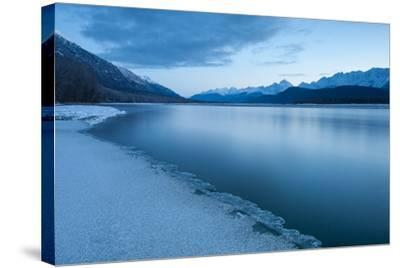 Pre-Dawn Long Exposure of the Icy Blue Chilkat River-Jak Wonderly-Stretched Canvas Print