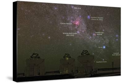 Nebulae and Star Clusters in the Milky Way over the Cerro Paranal Observatory-Babak Tafreshi-Stretched Canvas Print