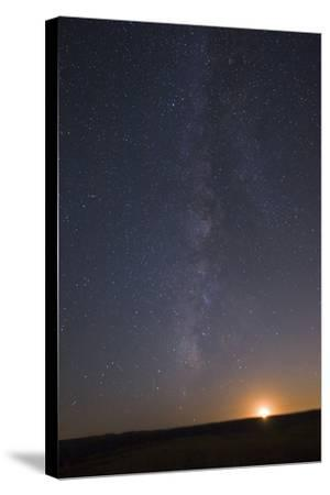 The Milky Way Stretches across the Sky as the Moon Sets-Babak Tafreshi-Stretched Canvas Print