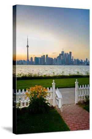 The Skyline of Toronto at Sunset from Front Yard of Home on Centre Island-Tim Thompson-Stretched Canvas Print