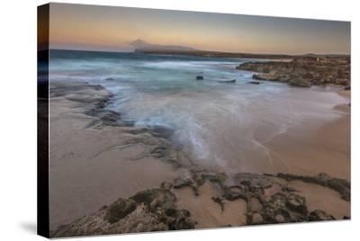 Sandy Shore at Kaehu Point, Mo'Omomi Beach, Nature Conservancy, Molokai, Hawaii-Richard Cooke III-Stretched Canvas Print