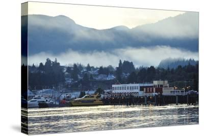 A Scenic View of Prince Rupert's Waterfront Community, at Sunrise-Jonathan Kingston-Stretched Canvas Print