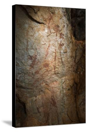 Gwion Gwion, also known as Bradshaw Rock Paintings, Found on Jar Island in Western Australia-Jeff Mauritzen-Stretched Canvas Print