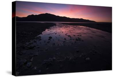 Sunrise Above Lake Hawea and Mount Melina-Michael Melford-Stretched Canvas Print