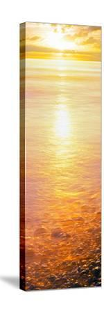 View of Ocean During Sunset, Calumet Park Beach, La Jolla, San Diego, California, Usa--Stretched Canvas Print