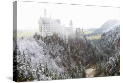 Neuschwanstein Castle in Winter, Fussen, Bavaria, Germany, Europe-Miles Ertman-Stretched Canvas Print