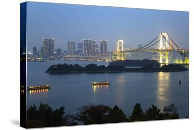 Rainbow Bridge from Odaiba, Tokyo, Japan, Asia-Stuart Black-Stretched Canvas Print