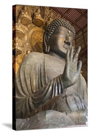 Daibutsu (Great Buddha) (Vairocana) Inside the Daibutsu-Den Hall of the Buddhist Temple of Todai-Ji-Stuart Black-Stretched Canvas Print