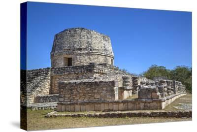 Templo Redondo (Round Temple), Mayapan, Mayan Archaeological Site, Yucatan, Mexico, North America-Richard Maschmeyer-Stretched Canvas Print