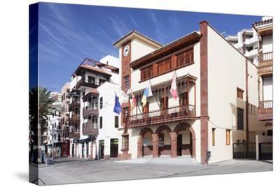 Town Hall at Plaza De Las Americas Square, San Sebastian, La Gomera, Canary Islands, Spain, Europe-Markus Lange-Stretched Canvas Print