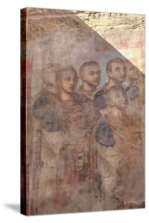 Paintings of Roman Emperors, Hypostyle Hall, Luxor Temple-Richard Maschmeyer-Stretched Canvas Print