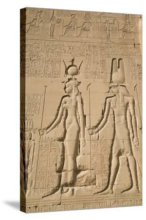 Relief of Cleopatra and Horus, Temple of Hathor, Dendera, Egypt, North Africa, Africa-Richard Maschmeyer-Stretched Canvas Print