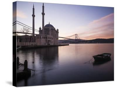 Exterior of Ortakoy Mosque and Bosphorus Bridge at Dawn, Ortakoy, Istanbul, Turkey-Ben Pipe-Stretched Canvas Print