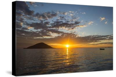 Sunset at Lake Malawi, Cape Maclear, Malawi, Africa-Michael Runkel-Stretched Canvas Print