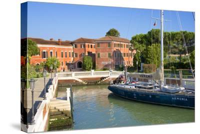 Armenian Monastery, San Lazzaro Degli Armeni, and Armenian Sail Boat, Venice, Veneto, Italy-Guy Thouvenin-Stretched Canvas Print
