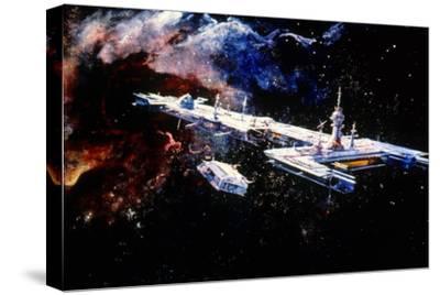 Le Trou Noir the Black Hole De Gary Nelson 1979--Stretched Canvas Print