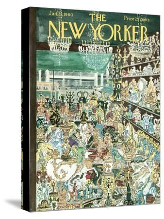The New Yorker Cover - January 23, 1960-Anatol Kovarsky-Stretched Canvas Print