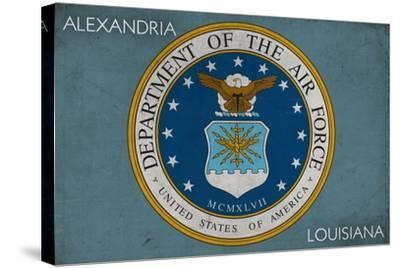 Alexandria, Louisiana - Department of the Air Force - Military - Insignia-Lantern Press-Stretched Canvas Print