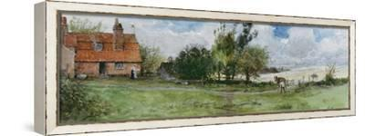 Study for Nearing Home-George Henry Boughton-Framed Stretched Canvas Print