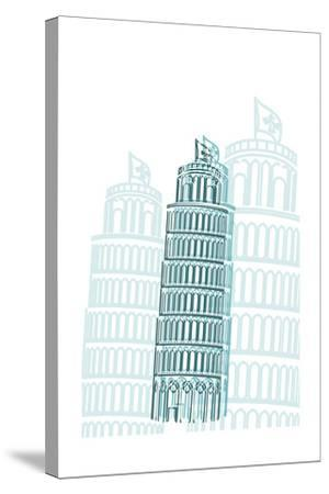 Tower of Pisa-Cristian Mielu-Stretched Canvas Print