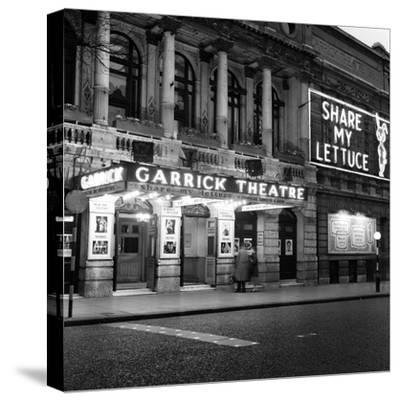 Garrick Theatre 1958-Staff-Stretched Canvas Print