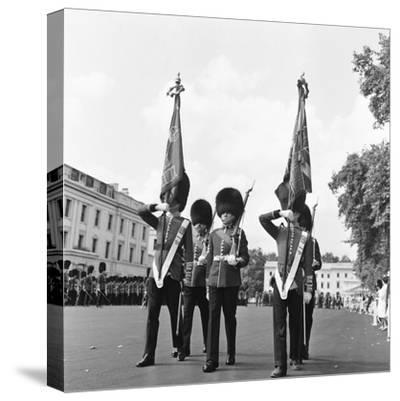 The Coldstream Guards 1959-Montie Fresco-Stretched Canvas Print