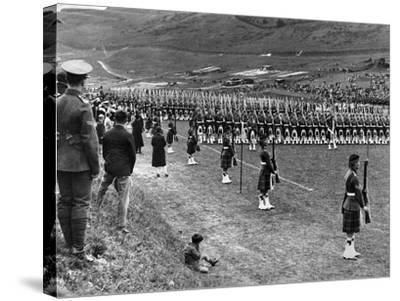 Prince of Wales Inspects Seaforth Highlanders During a Trooping of the Colour, 1929-Staff-Stretched Canvas Print