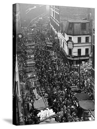 Petticoat Lane 1948-George Greenwell-Stretched Canvas Print