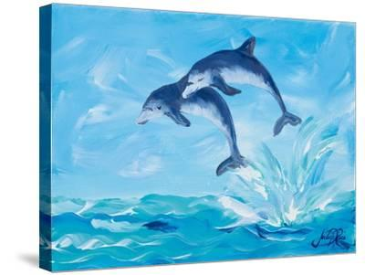 Soaring Dolphins I-Julie DeRice-Stretched Canvas Print