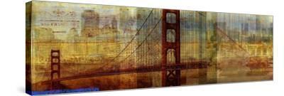 Sunset Bridge-Sloane Addison ?-Stretched Canvas Print
