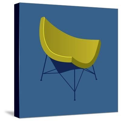 Mid Century Chair I--Stretched Canvas Print