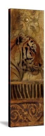 Elegant Safari Panel II (Tiger)-Patricia Pinto-Stretched Canvas Print