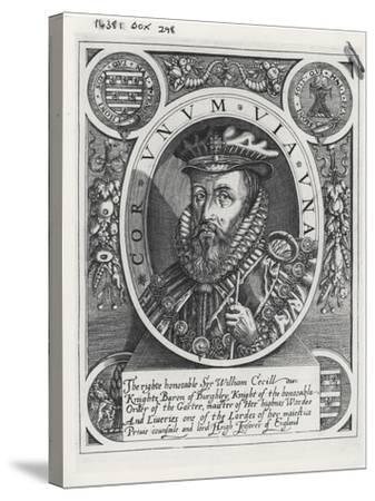 William Cecil, 1st Baron Burghley-William Rogers-Stretched Canvas Print