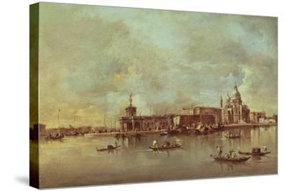 Santa Maria Della Salute Seen from the Mouth of the Grand Canal, Venice-Francesco Guardi-Stretched Canvas Print