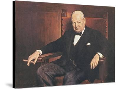 Sir Winston Churchill-Arthur Pan-Stretched Canvas Print