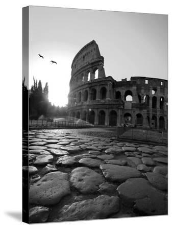 Colosseum and Via Sacra, Sunrise, Rome, Italy-Michele Falzone-Stretched Canvas Print