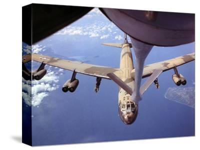 View of USAF B-52 Stratofortress Bomber in Flight--Stretched Canvas Print