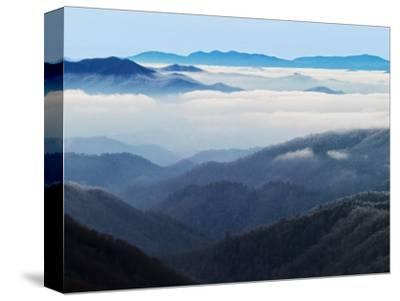 Winter View of Thomas Divide, Great Smoky Mountains National Park, North Carolina, USA-Adam Jones-Stretched Canvas Print