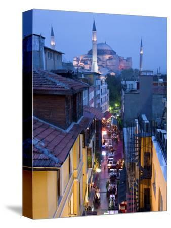 Hagia Sophia, Sultanahmet District, Istanbul, Turkey-Peter Adams-Stretched Canvas Print