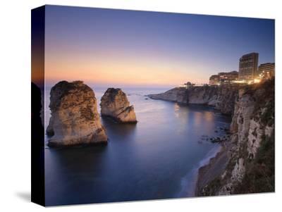 Lebanon, Beirut, the Corniche, Pigeon Rocks-Michele Falzone-Stretched Canvas Print