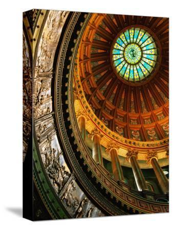 Interior of Rotunda of State Capitol Building, Springfield, United States of America-Richard Cummins-Stretched Canvas Print