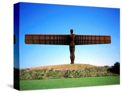 Giant Steel Structure of 'the Angel of the North-David Else-Stretched Canvas Print