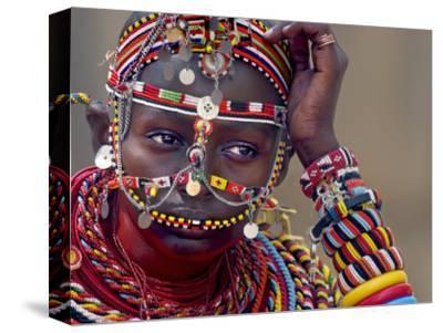 Portrait of a Samburu Maiden--Stretched Canvas Print