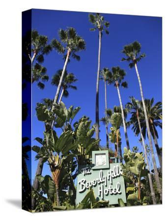 Sign for Beverly Hills Hotel, Beverly Hills, Los Angeles, California, Usa-Wendy Connett-Stretched Canvas Print