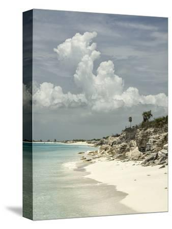 Deserted Island (Cay), Eastern Providenciales, Turks and Caicos Islands, West Indies, Caribbean-Kim Walker-Stretched Canvas Print